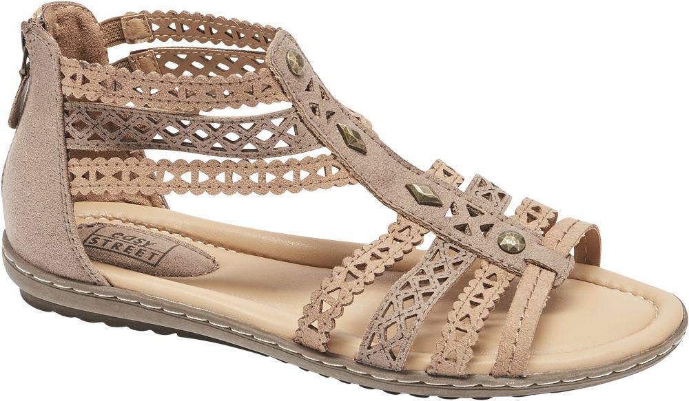 brązowe sandały damskie Easy Street