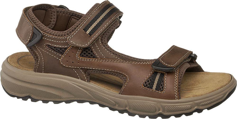 brązowe sandały męskie Gallus ze skóry