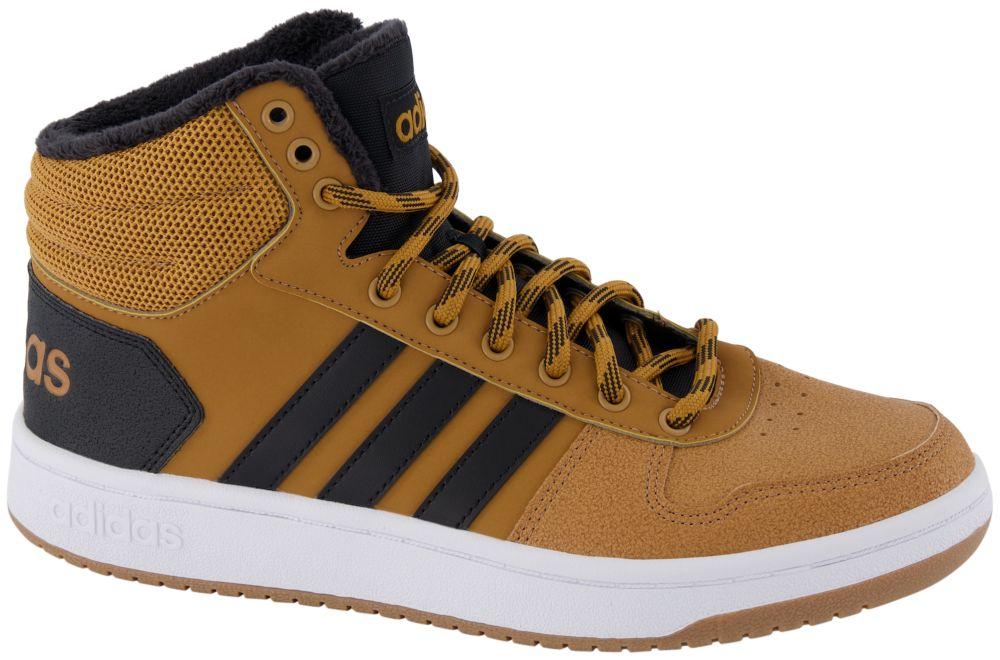 brązowe sneakersy męskie adidas Hoops 2.0 Mid