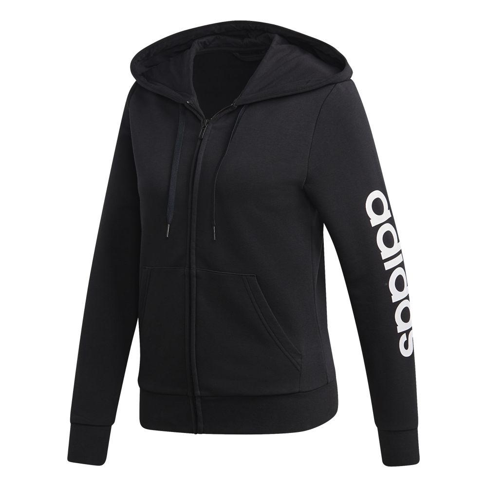 czarna bluza damska adidas z kapturem