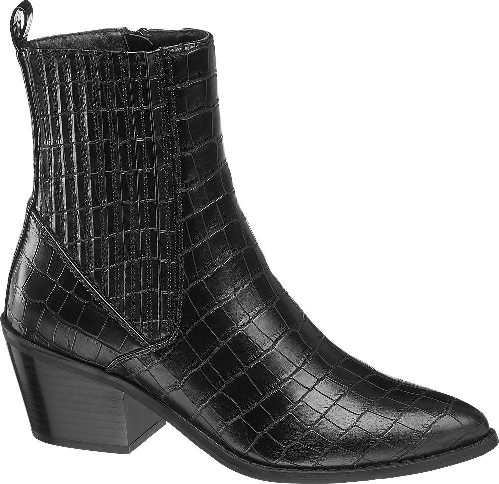 czarne botki damskie Vero Moda typu kowbojki