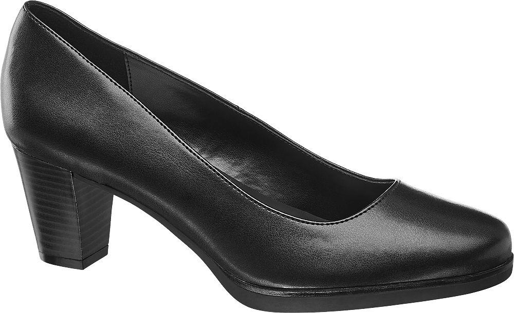 czarne czółenka damskie Graceland na słupku