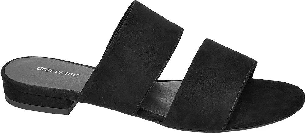 czarne klapki damskie Graceland