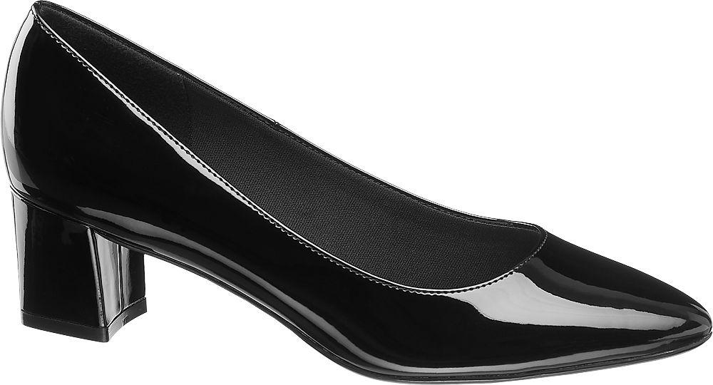 czarne lakierowane czółenka damskie Graceland