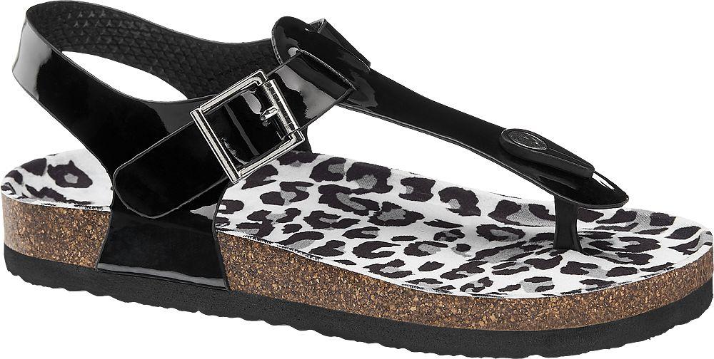 czarne lakierowane sandały dziewczęce Graceland