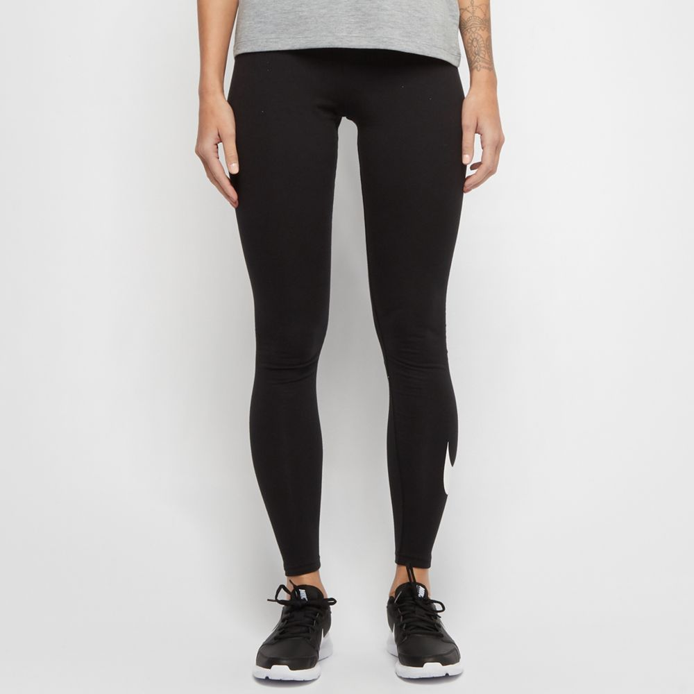 czarne legginsy damskie Nike
