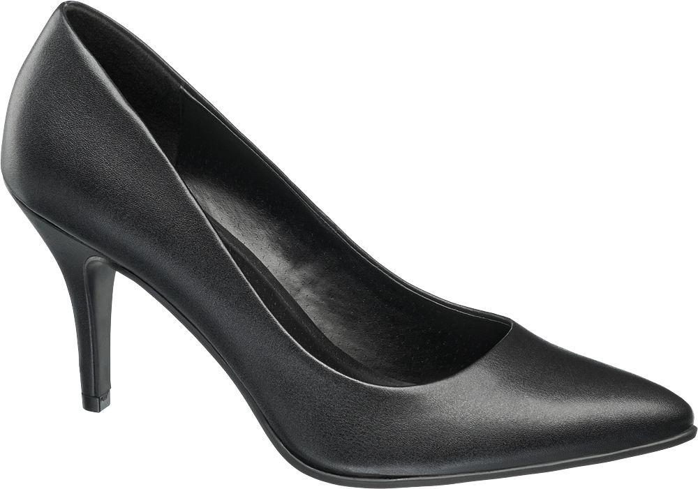 czarne minimalistyczne szpilki damskie Graceland
