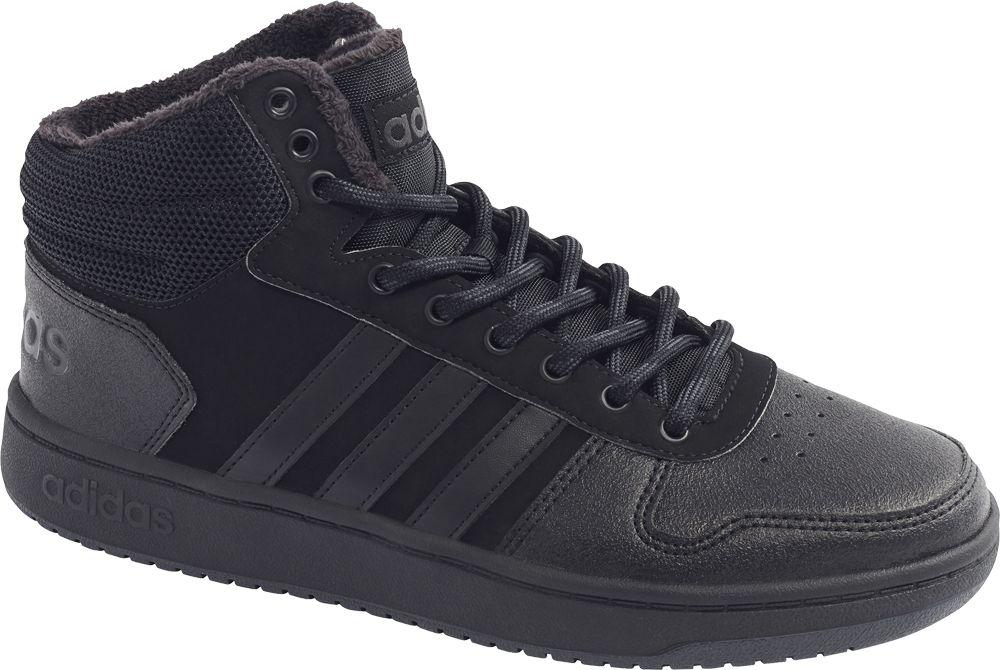czarne ocieplane sneakersy męskie adidas Hoops 2.0