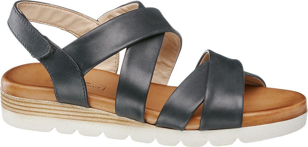 czarne płaskie sandały damskie 5th Avenue