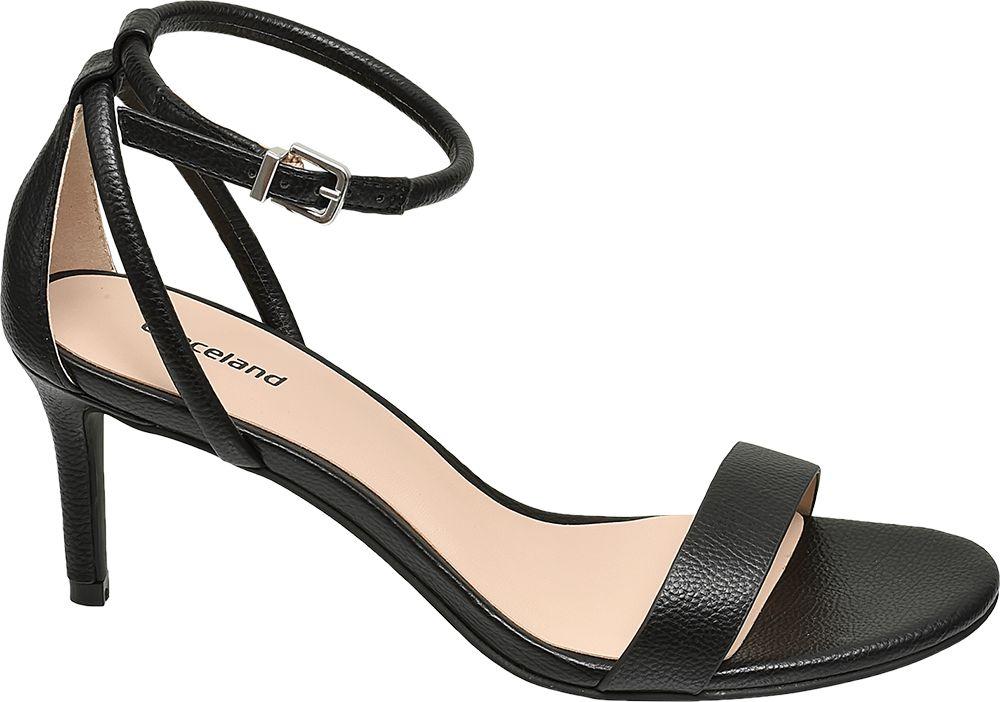 czarne sandałki damskie Graceland na szpilce