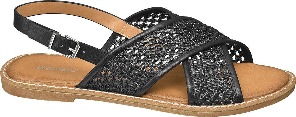 czarne sandały damskie Graceland