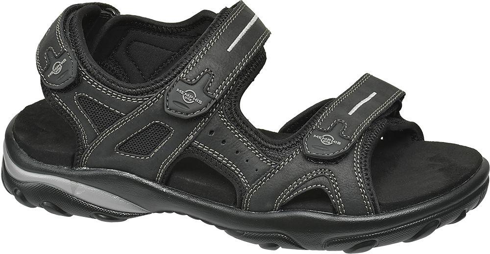 czarne sandały męskie Memphis One zapinane na rzepy