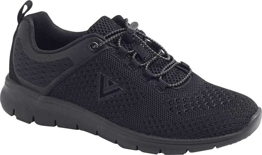 czarne sneakersy damskie Venice z elastycznymi gumkami