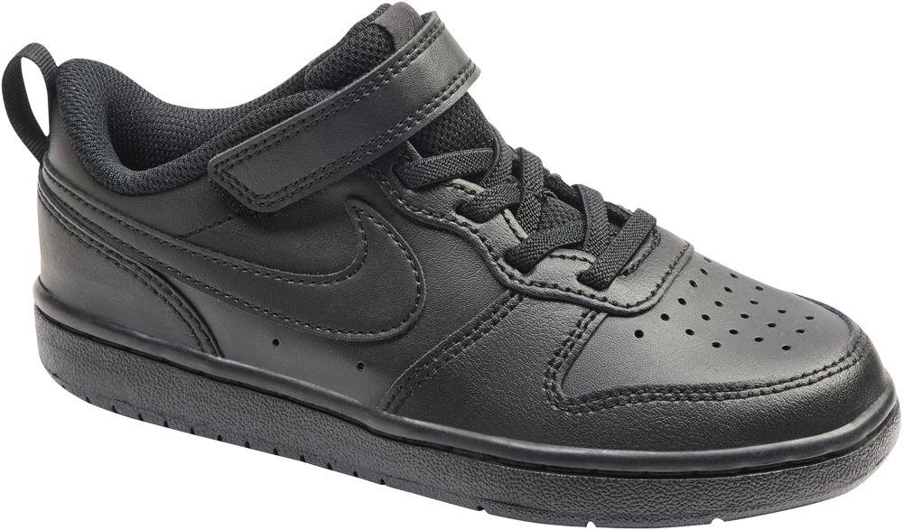 czarne sneakersy dziecięce Nike Court Borough 2 z zapięciem na rzep