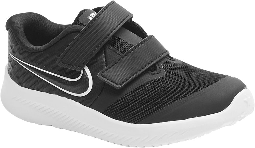 czarne sneakersy dziecięce Nike Star Runner 2 na białej podeszwie