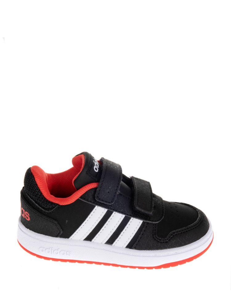 czarne sneakersy dziecięce adidas Hoops 2.0