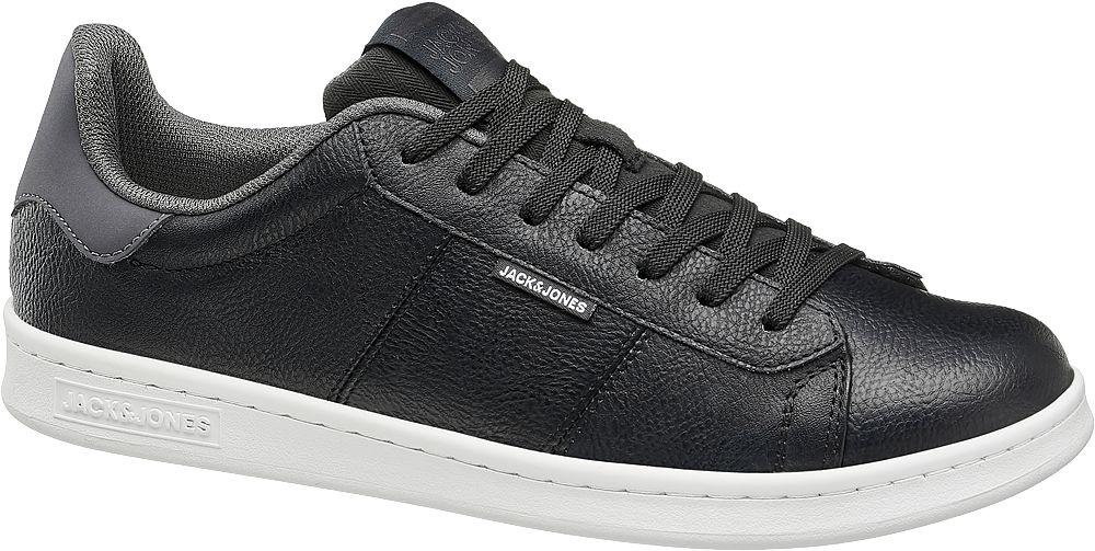 czarne sneakersy męskie Jack + Jones na białej podeszwie