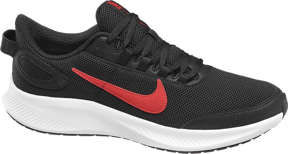 czarne sneakersy męskie Nike Runallday 2 z czerwonym logo