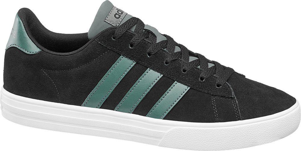 czarne sneakersy męskie adidas na białej podeszwie