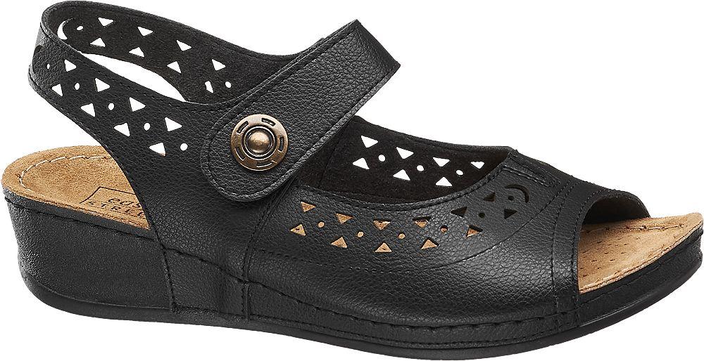czarne wygodne sandały damskie Easy Street