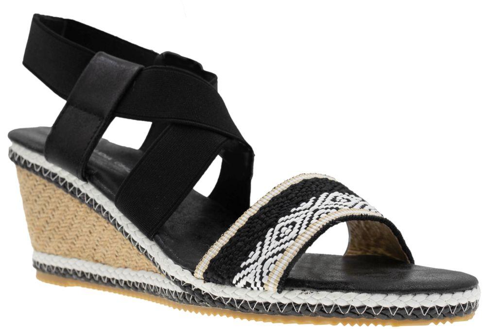 czarno-białe sandały damskie
