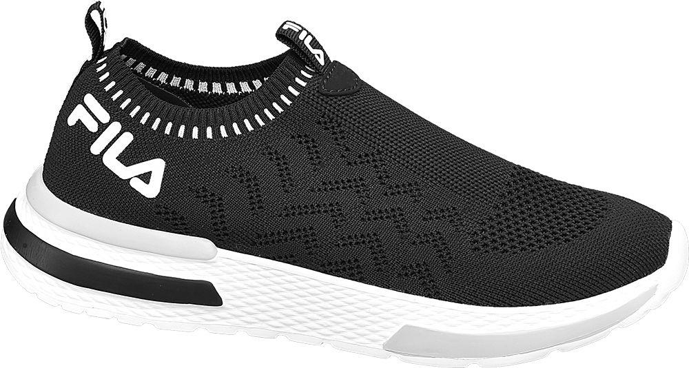 czarno-białe sneakersy damskie Fila