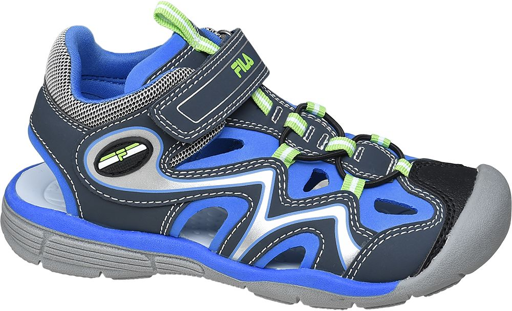 czarno-niebieskie sandały chłopięce z praktycznym zapięciem na rzep