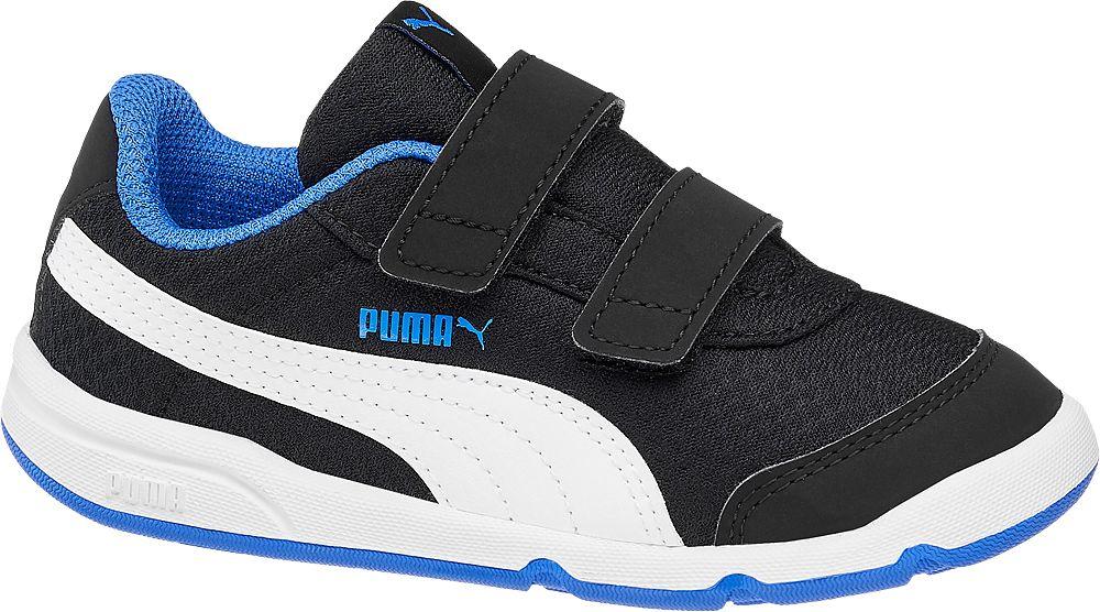 czarno-niebiesko-białe sneakersy chłopięce Puma Stepfleex