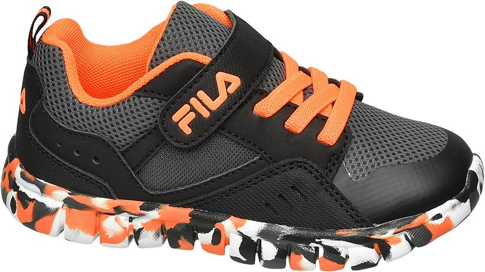 czarno-pomarańczowe sneakersy chłopięce Fila