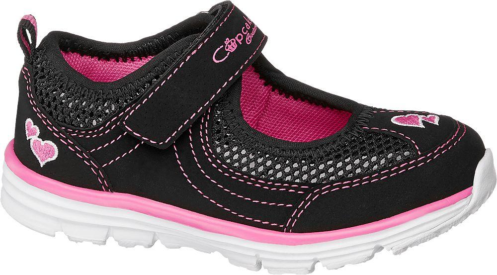 czarno-różowe baleriny dziewczęce Cupcake Couture