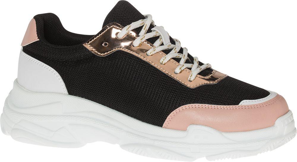 czarno-różowe sneakersy damskie Graceland