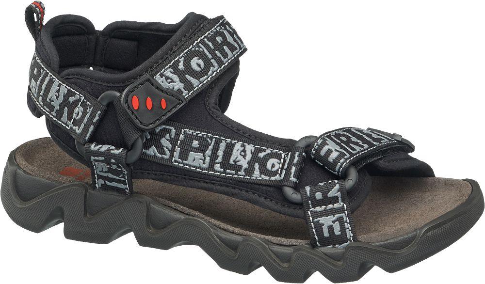 czarno-szare sandały chłopięce Elefanten, tęgość W