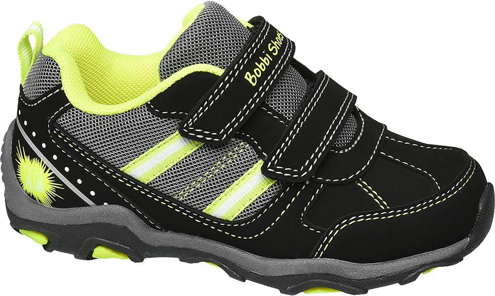 czarno-żółte półbuty chłopięce Bobbi-Shoes