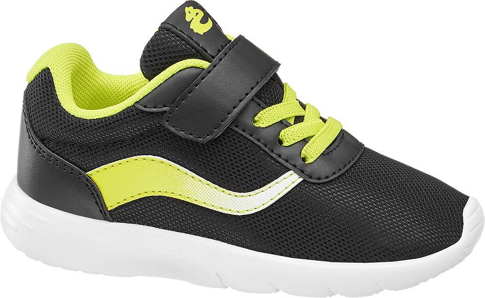 czarno-żółte sneakersy chłopięce Bobbi-Shoes