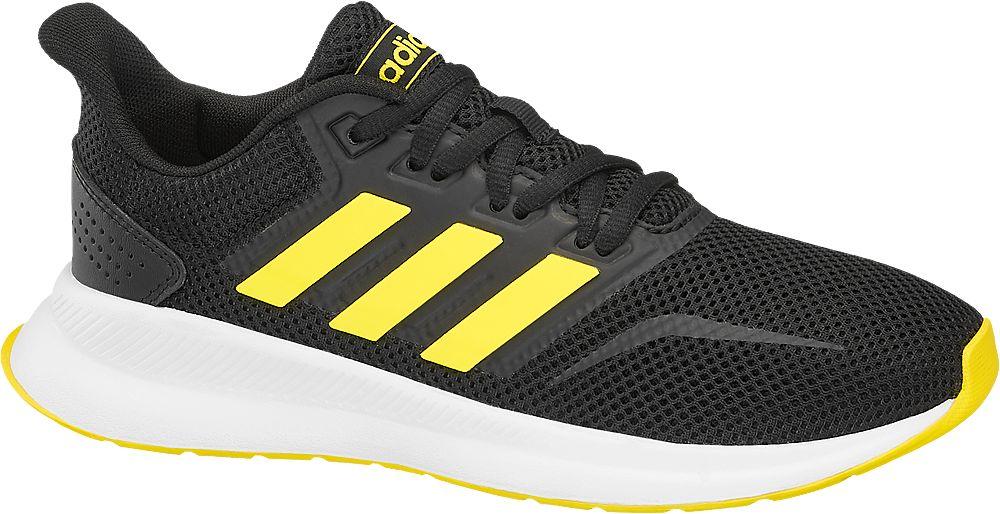 czarno-żółte sneakersy dziecięce adidas Runcalcon