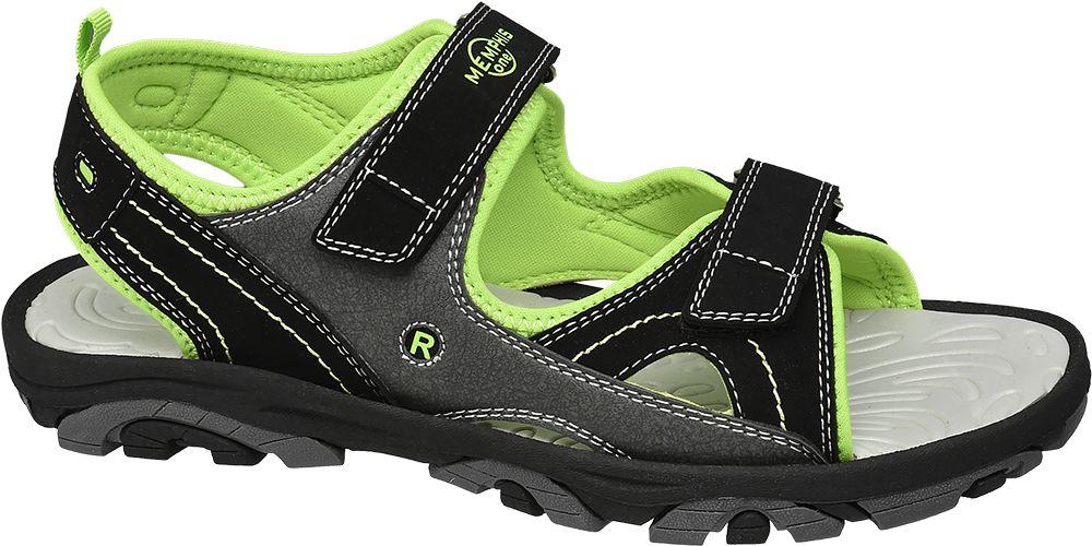 czarno-zielone sandały chłopięce Memphis One
