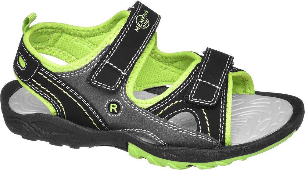 czarno-zielone sandały chłopięce Vty