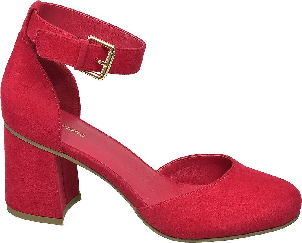 czerwone czółenka damskie Graceland z kolekcji tylko online