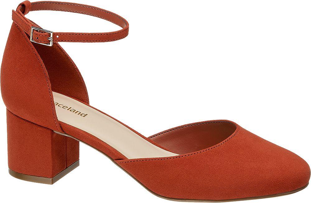 czerwone czółenka damskie Graceland z paseczkiem