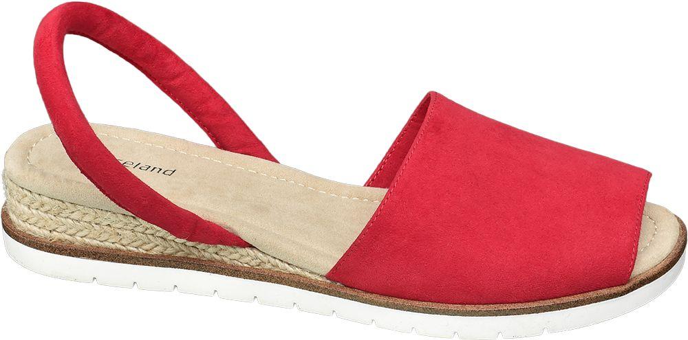 czerwone sandały damskie Graceland z paseczkiem