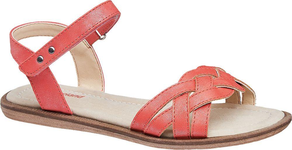 czerwone sandały dziewczęce Graceland
