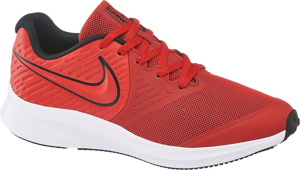 czerwone sneakersy młodzieżowe Nike Star Runner 2