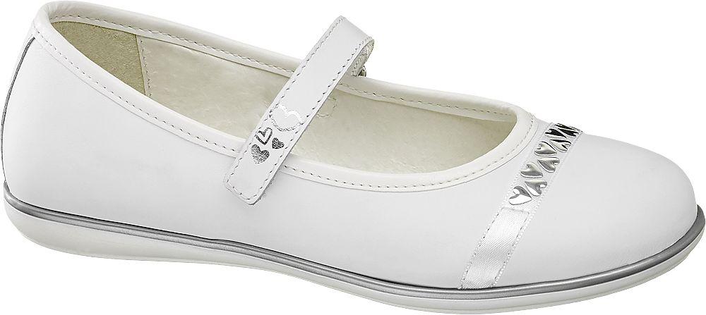dziewczęce buty komunijne Graceland ze srebrnymi elementami