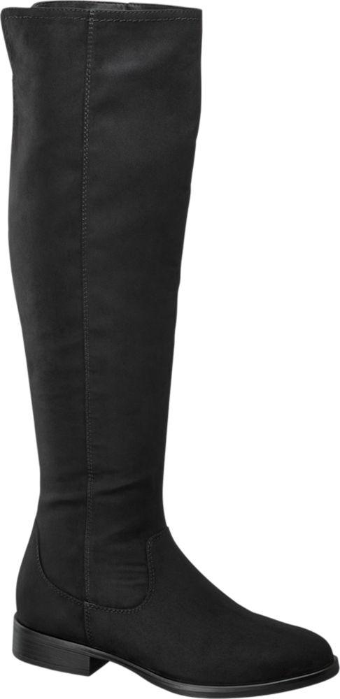Deichmann - Graceland Černé kozačky nad kolena Graceland 36 černá