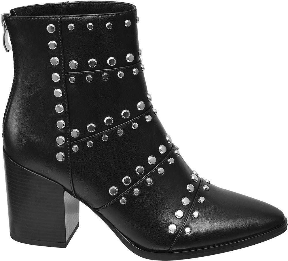 Deichmann - Star Collection Černé nízké kozačky Rita Ora 37 černá