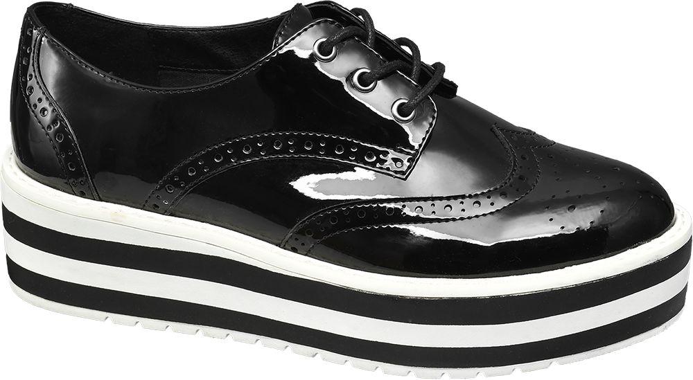 Deichmann - Catwalk Černé polobotky na platformě Catwalk 39 černá