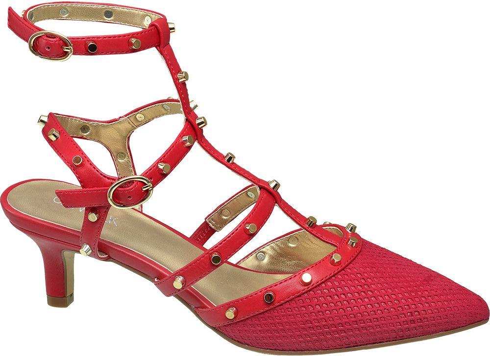 Deichmann - Catwalk Červené sandály na podpatku Catwalk 37 červená