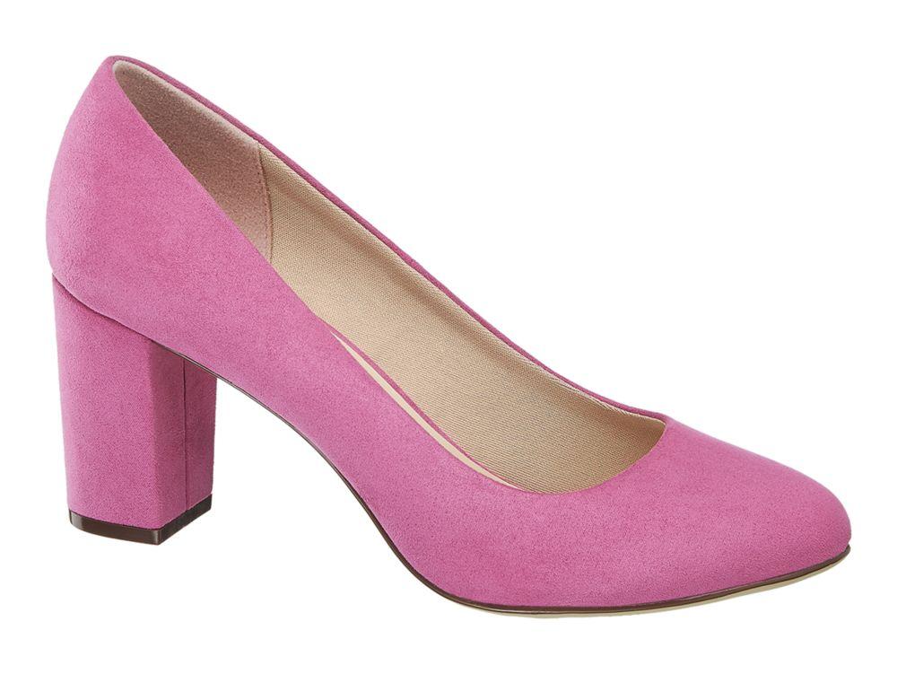 fioletowe czółenka damskie Graceland na słupku