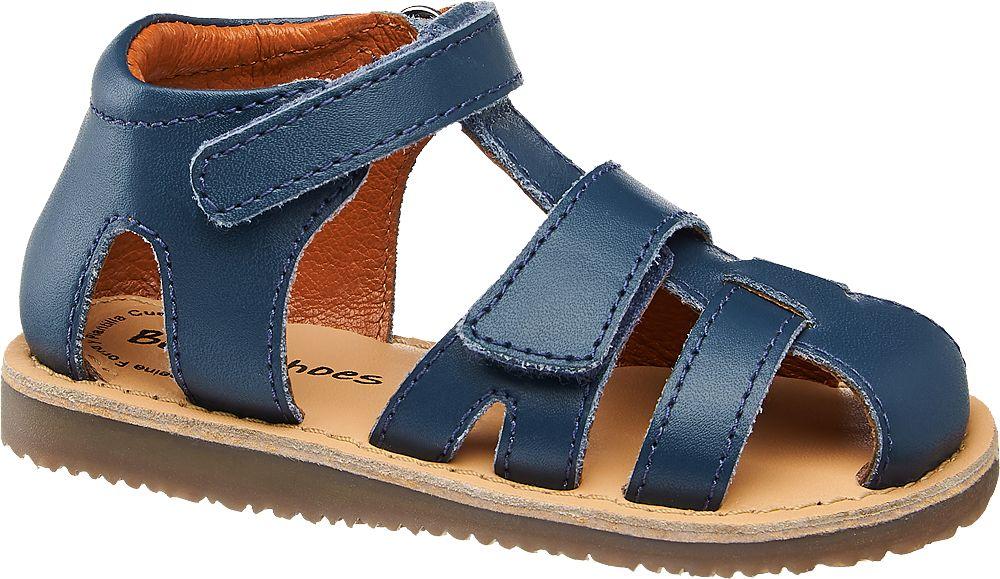 granatowe sandałki chłopięce Bobbi-Shoes z zabudowanym przodem