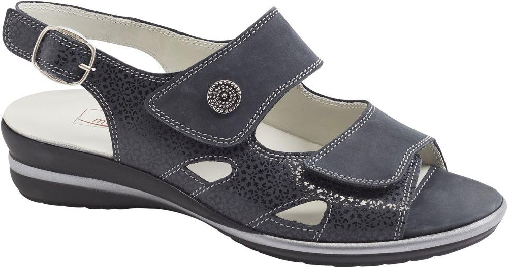 granatowe sandały damskie Medicus, tęgość G